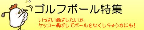 ゴルフの必需品ゴルフボール!タイトリスト、ダンロップ スリクソン、飛衛門(とびえもん)、ブリヂストン 日本正規品など各種メーカー。1ダース(12球)1,000円と格安なものも♪「ゴルフボール特集」