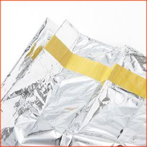 超コンパクト&暖かい。簡易防寒アルミ寝袋&防寒シート2枚組