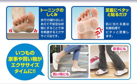 足裏に付けるだけ!自分の脚がトーニングシューズに早変わり!「トーニングインソール」